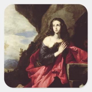 St. Mary Magdalene or St. Thais in the Desert Square Sticker