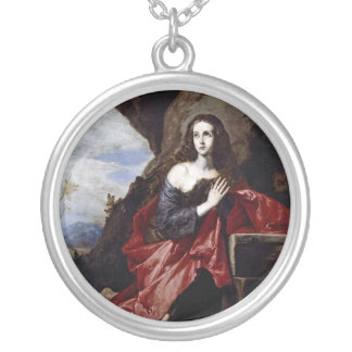 St. Mary Magdalene Round Pendant Necklace