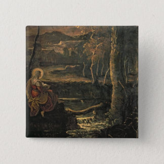 St. Mary of Egypt in the Wilderness Pinback Button