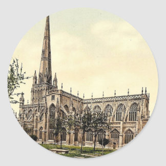 St Mary Radcliffe, Bristol, foto de la obra Pegatina Redonda