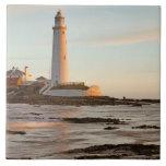 St Mary's Lighthouse England Tile/Trivet