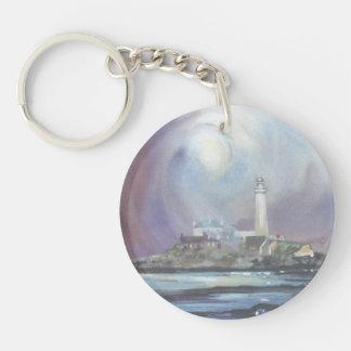 St Mary's Lighthouse Keyring/Keychain Single-Sided Round Acrylic Keychain