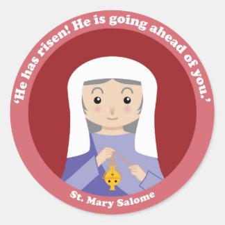 St Mary Salome Pegatina Redonda