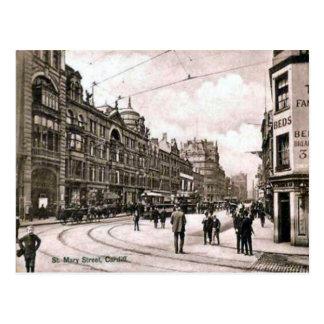 St Mary Street, Cardiff Postcard