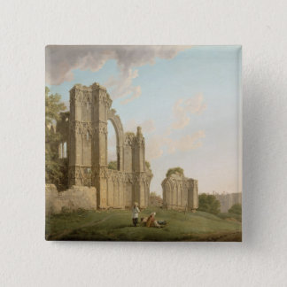 St Mary's Abbey, York, c.1778 (oil on canvas) Pinback Button