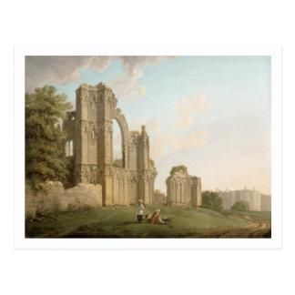 St Mary's Abbey, York, c.1778 (oil on canvas) Postcard