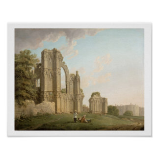 St Mary's Abbey, York, c.1778 (oil on canvas) Poster