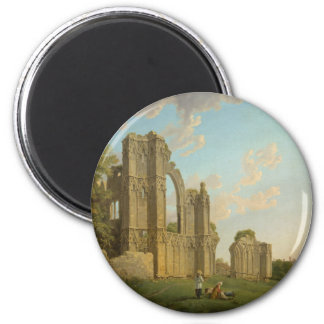 St. Mary's Abbey, York, England circa 1778 2 Inch Round Magnet