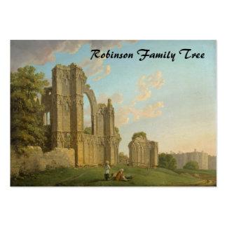 St. Mary's Abbey, York, England circa 1778 Large Business Card