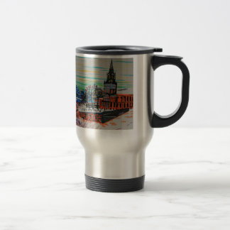 St Mary's and the Tyne Bridge in winter Travel Mug