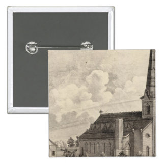 St Mary's Catholic Church 2 Inch Square Button