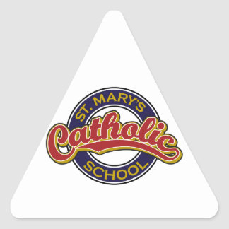 St. Mary's Catholic School Red on Blue Stickers