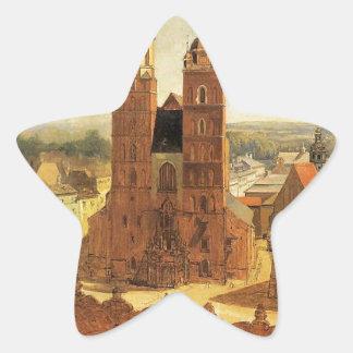 St. Mary's church by Jan Matejko Star Sticker