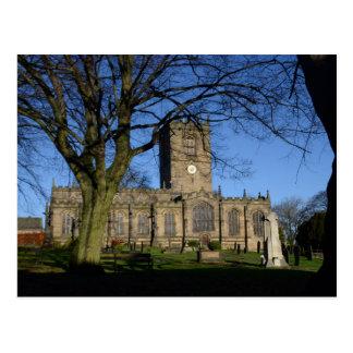 St Mary's Church Ecclesfield. Postcard