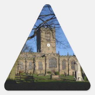 St Mary's Church Ecclesfield. Triangle Sticker