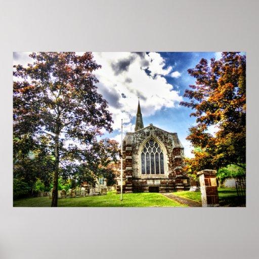 St Marys Church Finedon Print (HDR)