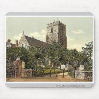 St. Mary's Church, Folkestone, England rare Photoc Mouse Pads