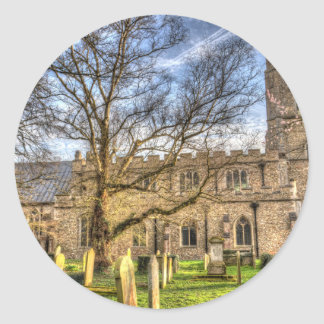 St Mary's Church Great Dunmow Classic Round Sticker