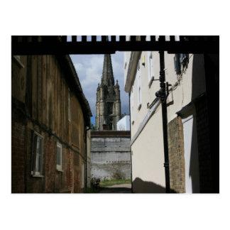 St Marys church, Saffron Walden, Essex, UK Postcard