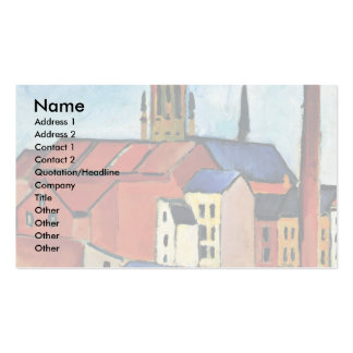 St. Mary'S Church, With Houses And Chimney Business Card Templates