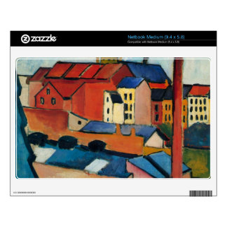 St. Mary's Church with houses and chimney by Macke Netbook Decal