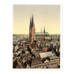 St. Mary's, from St. Peter's Clock Tower, Lubeck, Post Card