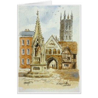 St Marys Gate Gloucester Greeting Card
