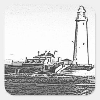 St Marys Lighthouse Square Sticker