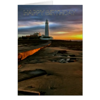 St. Mary's Lighthouse U.K., Birthday Greeting Card