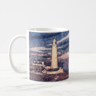 St. Mary's Lighthouse, Whitley Bay, Gift Mug