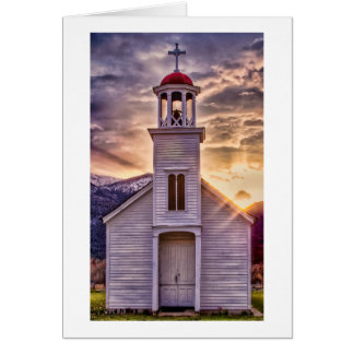 St. Mary's Mission at Sunset Greeting Cards