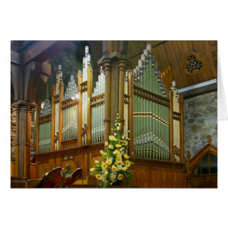 St Mary's, New Plymouth, pipe organ Card