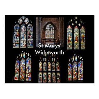 St Marys' Wirksworth Postcard