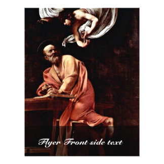 St Matthew And The Angel By Michelangelo Merisi Flyers