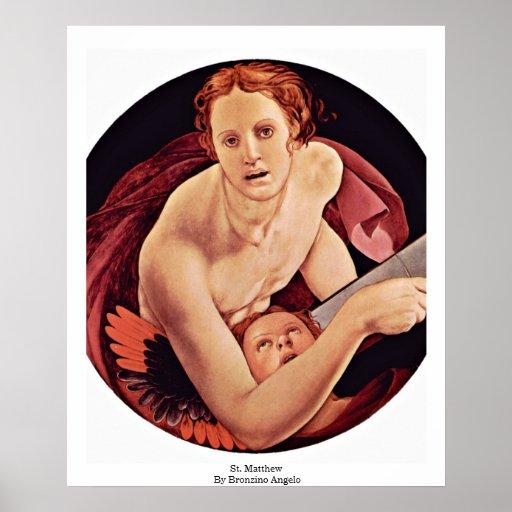 St. Matthew By Bronzino Angelo Poster