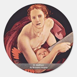 St. Matthew By Bronzino Angelo Sticker