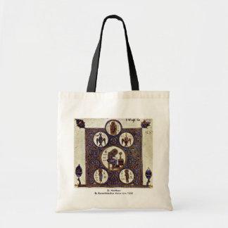 St. Matthew By Byzantinischer Maler Um 1020 Canvas Bag