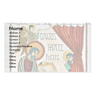 St. Matthew By Meister Des Book Of Lindisfarne (Be Business Card Template