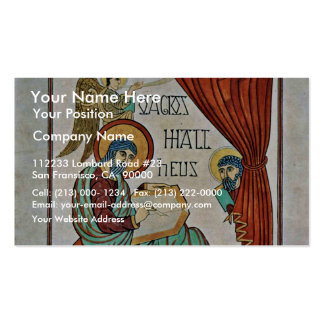 St. Matthew By Meister Des Book Of Lindisfarne (Be Double-Sided Standard Business Cards (Pack Of 100)