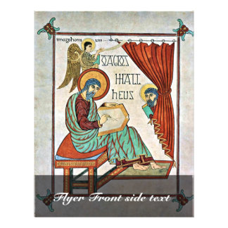 St. Matthew By Meister Des Book Of Lindisfarne (Be Full Color Flyer
