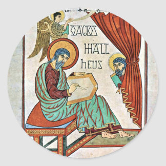 St. Matthew By Meister Des Book Of Lindisfarne (Be Stickers