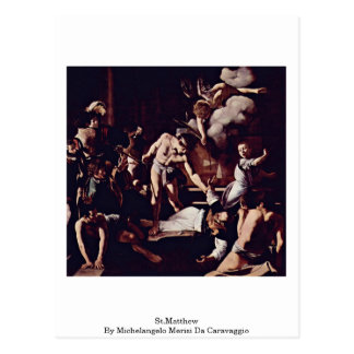 St.Matthew By Michelangelo Merisi Da Caravaggio Postcard
