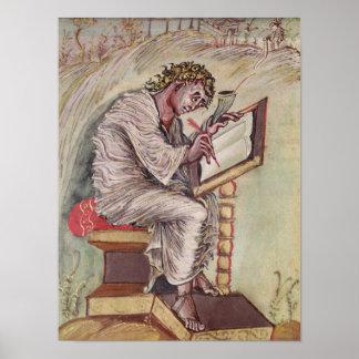 St Matthew de los evangelios de Ebbo Poster