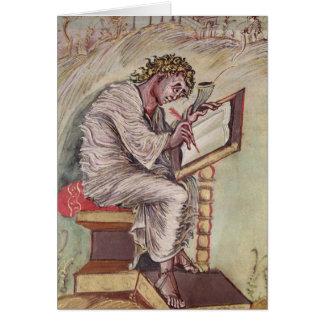 St Matthew, de los evangelios de Ebbo Tarjeta De Felicitación