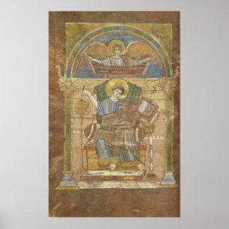 St Matthew, del evangelio de St. Riquier Posters