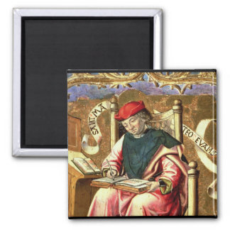 St. Matthew: Detail of Altarpiece 2 Inch Square Magnet