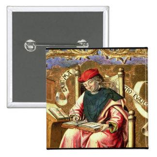 St. Matthew: Detail of Altarpiece 2 Inch Square Button