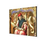 St Matthew: Detalle del Altarpiece Impresión En Lienzo