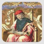 St Matthew: Detalle del Altarpiece Pegatina Cuadrada