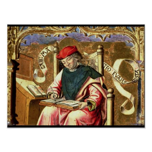 St Matthew: Detalle del Altarpiece Póster